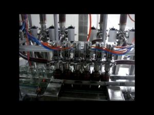 linjär automatisk fyra huvud kolvflaska viskös ketchup sås vätskeförpackningsmaskin