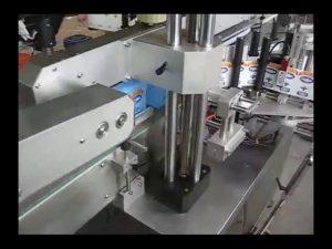 automatisk etikettmaskin för dubbla sidor för etiketter för rund flaska