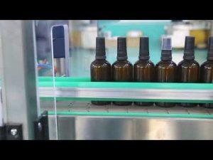 motor med hög noggrannhet rostfritt stål plattform cbd olja flaskan fyllning maskin