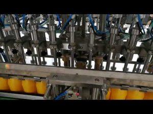 12 huvuden automatisk flaskfyllningsmaskin för kosmetisk ketchupolja