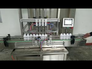 automatisk viskös flytande pastaflaskmaskin för flytande tvål, kroppslotion, schampo