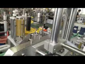 automatisk plast- och glasflaskburk självhäftande klistermärke för märkning