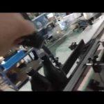 automatisk inline rak glasflaska aluminiumkapplåsningsmaskin